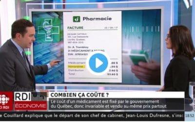 Meilleur contrôle des frais de médicaments – Les pharmaciens devront afficher leurs honoraires – Entrevue de Gérald Fillion